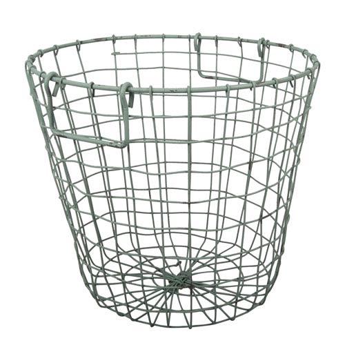 A & B Home Antique Green Grafton Round Wire Basket