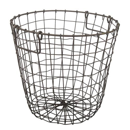 A & B Home Rusty Grafton Round Wire Basket