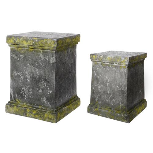 Grey Pedestals, Set of Two