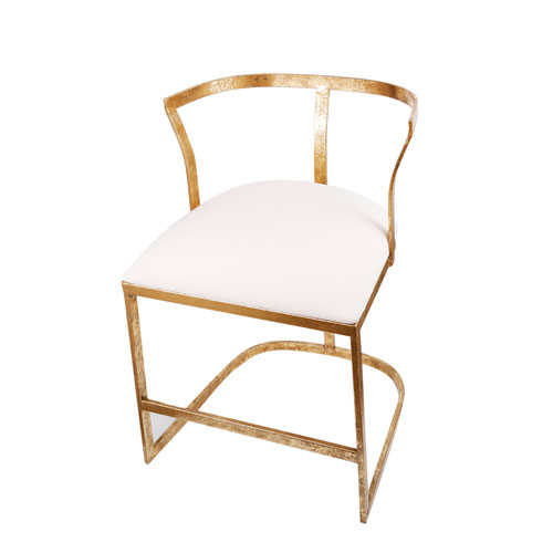Gold and White Chair