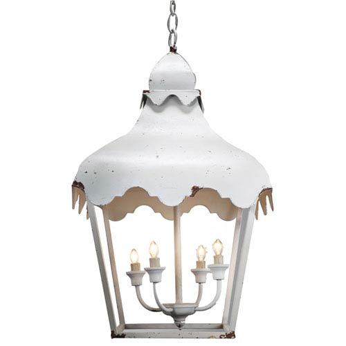 Florence de Dampierre by AB Home Antique White Five-Light Metal Pendant