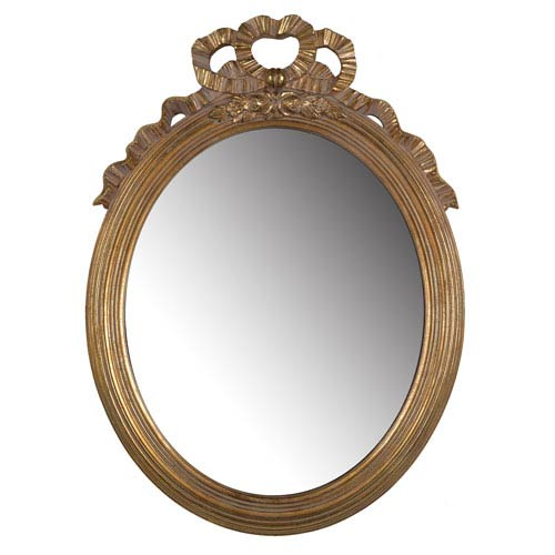 A & B Home Gold Marquis Round Mirror