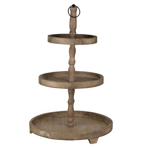 Woodruff Three-Tier Round Serving Tray