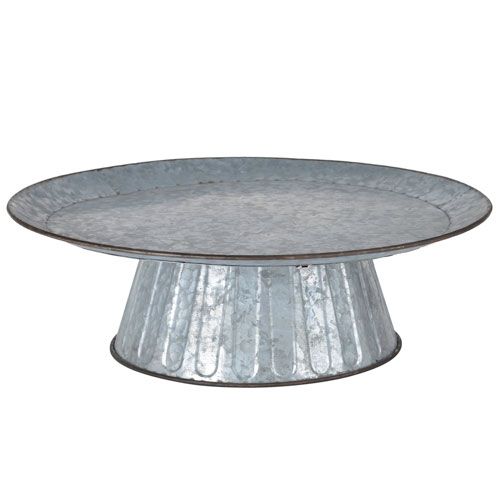 Grey Metal Cake Stand