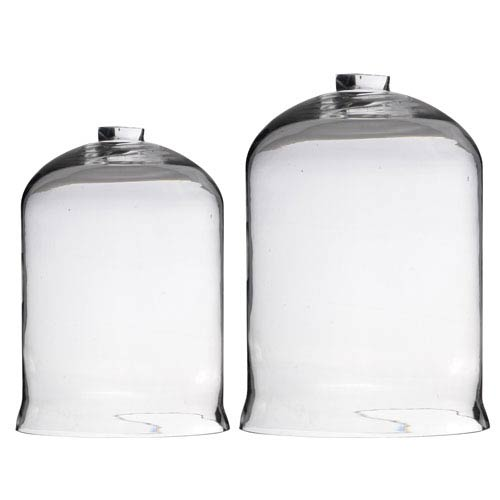 A & B Home Open-Top Glass Dome, Set of Two