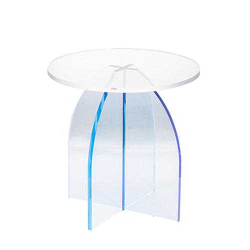 A & B Home Callie Blue Side Table