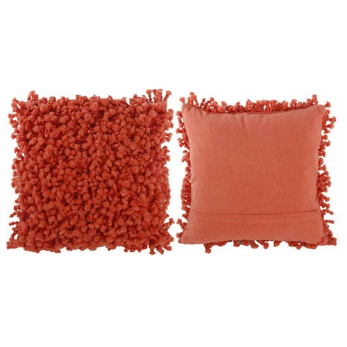 Coral 18-Inch Decorative Pillow