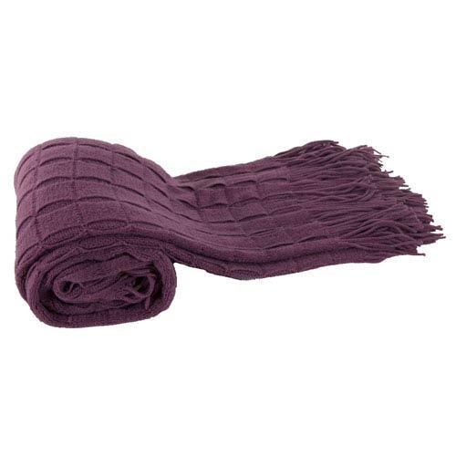 Purple Acrylic Cashmere Throw