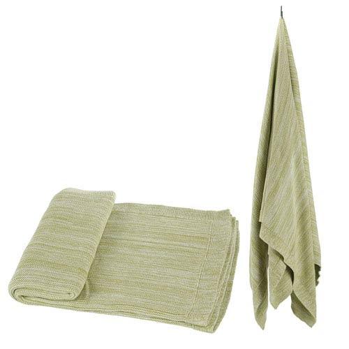 Green Cotton Throw