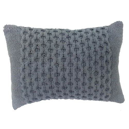 Gray 14 x 20-Inch Knit Pillow