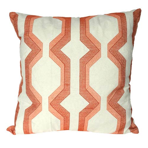 Coral 18-Inch Cotton Pillow
