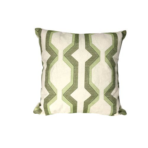 Green 18-Inch Cotton Pillow