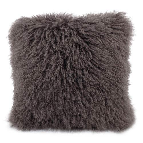 Lamb Fur Grey 20-Inch Pillow