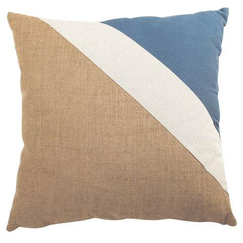 Burlap Multicolor 20-Inch Pillow