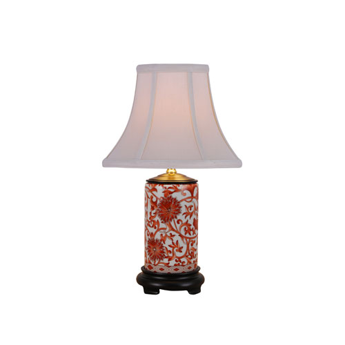 Porcelain Ware One-Light Small Orange Lamp