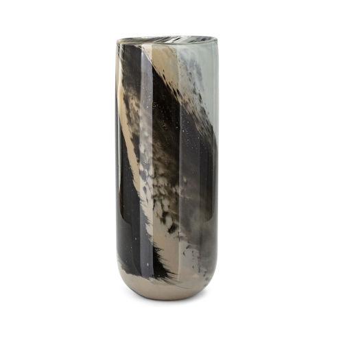 Waverly Brown Large Art Glass Vase