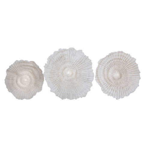 Laguna White Wall Décor, Set of 3