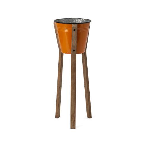 Framstead Orange Medium Standing Planter