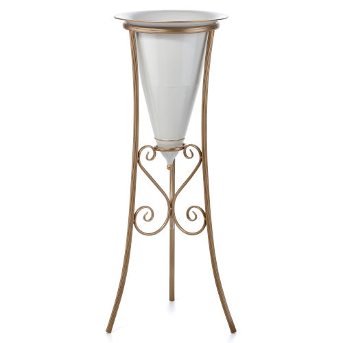 Sandro Gold Planter with Gold Stand