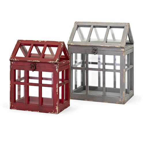 Berry Patch Red Terrariums, Set of Two