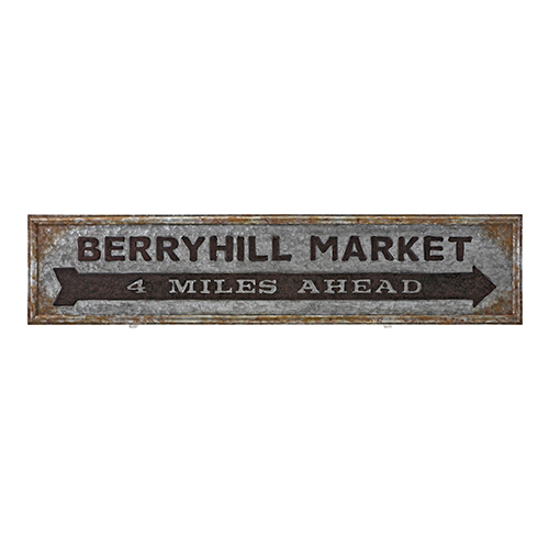 Berry Patch Gray Market Sign