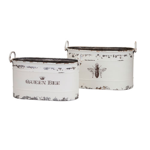 Queen Bee Tubs , Set of 2
