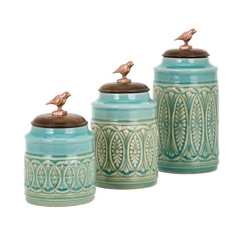 Songbird Canisters, Set of 3