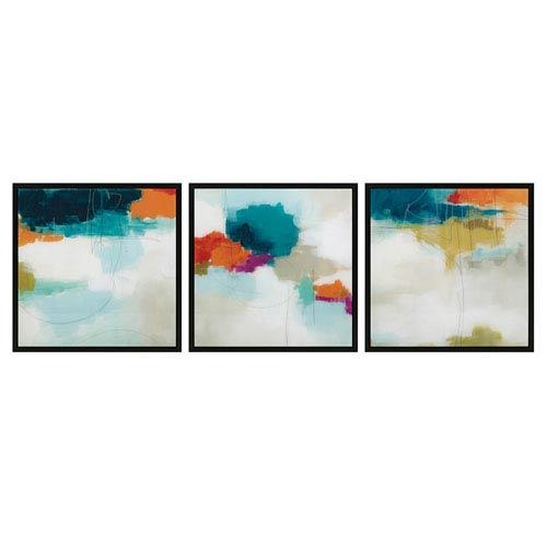 Nakasa Abstracts Framed Acrylic Wall Décor, Set of Three