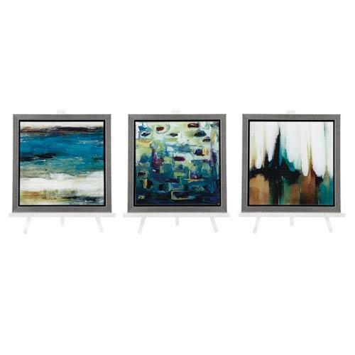 Nakasa Reflection Framed Acrylic with Easel, Set of 3