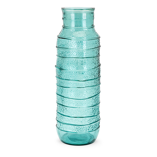 Imax Martinique Large Recycled Glass Vase In Green 10073 Bellacor