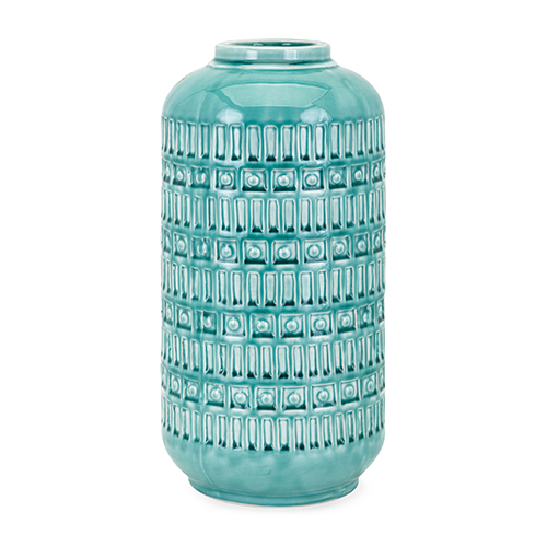 Imax Eliza Large Vase In Teal 10946 Bellacor