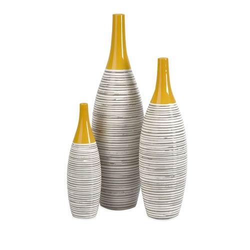 Andean Multi Glaze Vases-Set of Three
