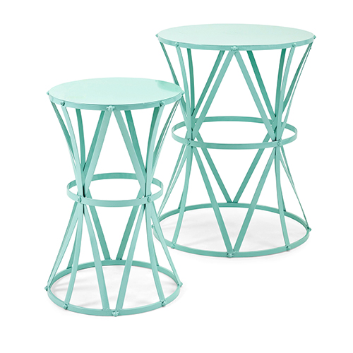 Hillary Green Accent Tables - Set of 2