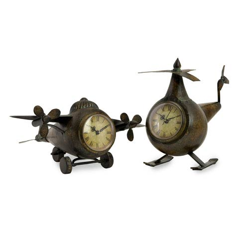 Lindbergh Aviation Clocks - Set of Two