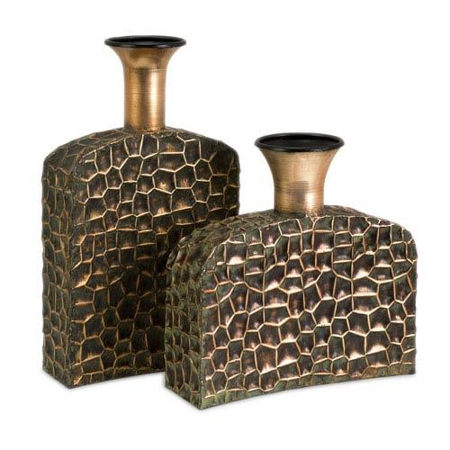 IMAX Liana Reptilian Angular Bottles - Set of Two