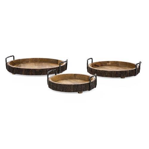 IMAX Damari Wood Trays, Set of 3