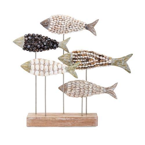 Mahi Mosaic Shell Fish Statuary