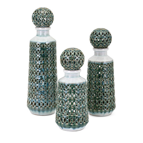 Vivian Bottles with Stopper, Set of 3