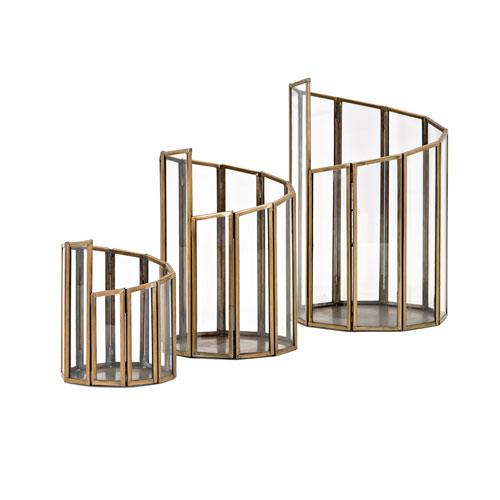 IMAX Rosselli Glass Candleholders, Set of 3