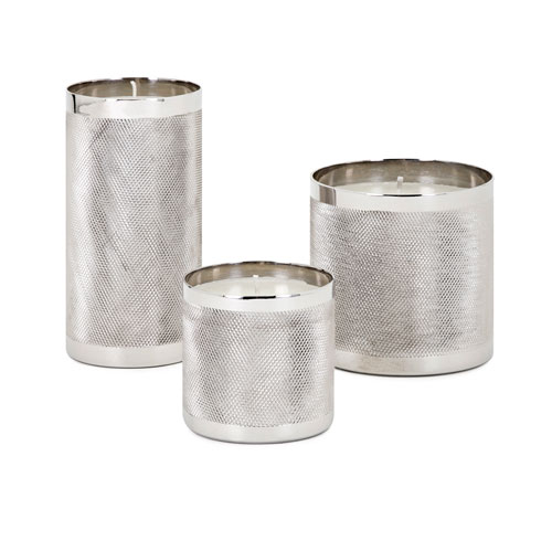 IMAX Catena Wax Filled Candleholders, Set of 3