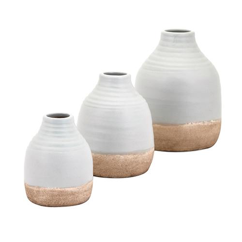 Imax Chloe White Vases Set Of 3 15258 3 Bellacor