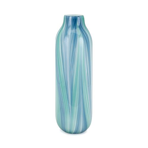 Imax Rafia Large Glass Vase In Blue Multi Color 15409 Bellacor