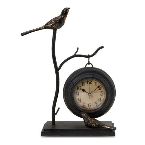 IMAX Bird and Branch with Hanging Clock