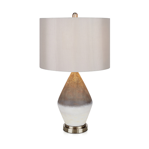 Delanie White Ceramic One-Light Table Lamp