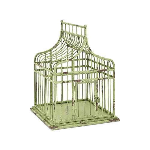 Lulu Small Bird Cage in Green