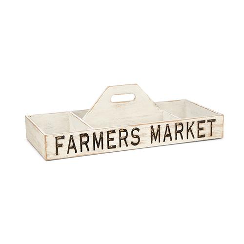 Farmers Market White Caddy