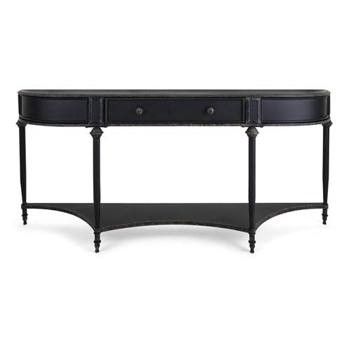 IMAX Atheron Black Metal Console with Drawer