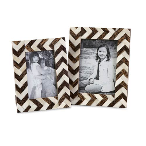 Zig Zag Bone Inlay Frames - Set of Two