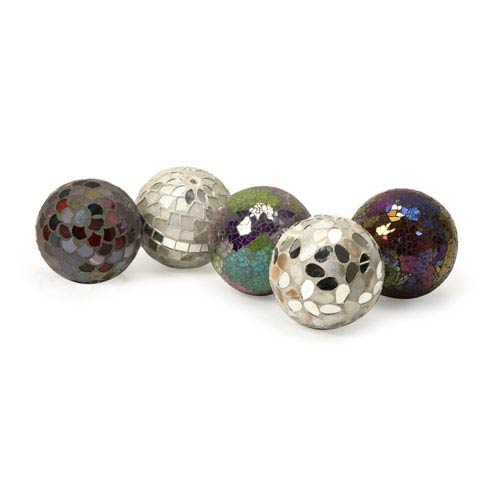 IMAX Abbot Mosaic Deco Balls - Set of Five