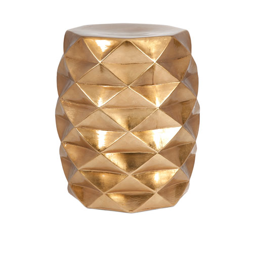 IMAX IK Gold Geometric Garden Stool